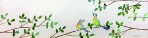 木に止まる鳥